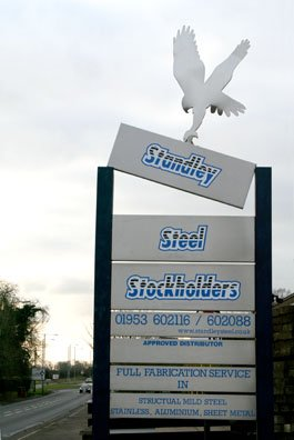 Standley Steel Sign Image.